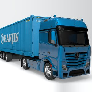 mercedes benz actros blue 3D