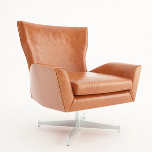 realistic hemming leather chair 3D model