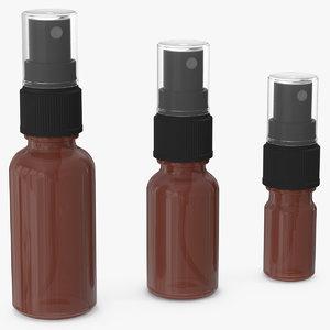 spray bottles amber glass model