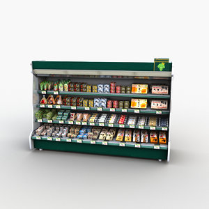 store display refrigerator freezer 3D model