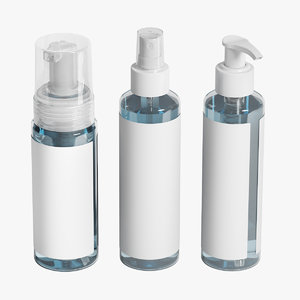 cosmetic bottles set model