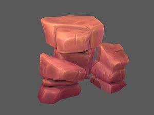 3D desert rocks