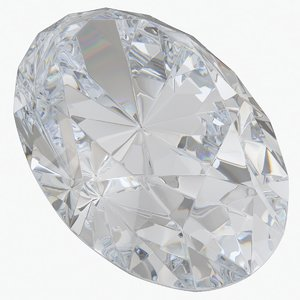 diamond oval cut 3D