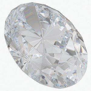 diamond oval cut 3D