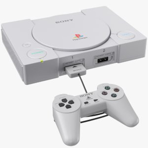 real classic playstation console 3D