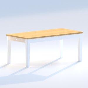 3D loft table alvina model