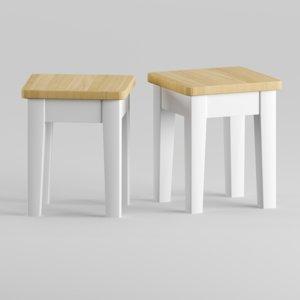 3D alvina loft stool model