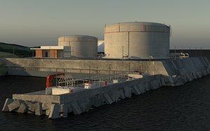 lng terminal port model