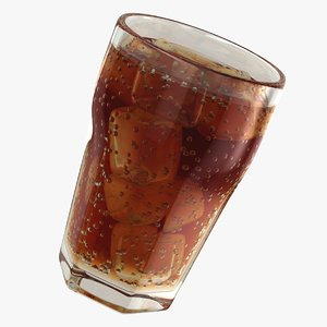 3D realistic cola glass