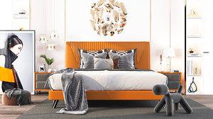 bedroom modern render 3D model