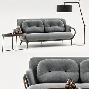 3D sofa porada allison