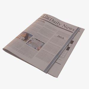 3D newspaper pbr ready model