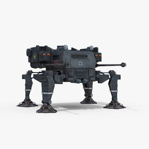 fictional spider panzer concept model