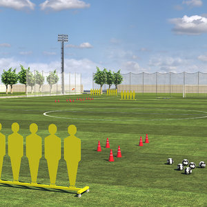 3D model football training ground
