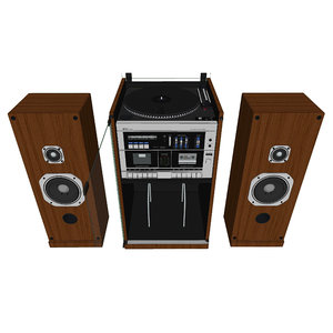 stereo 1985 vintage 3D