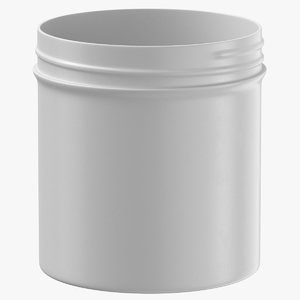 plastic jar wide mouth 3D