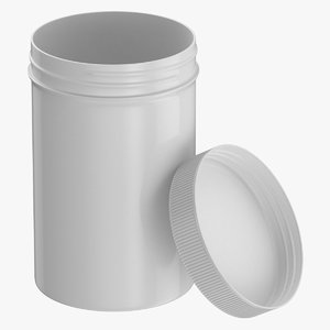 3D plastic jar wide mouth