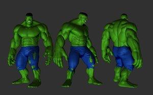 3D hulk print