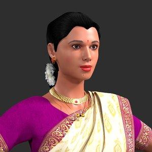 saree woman indian model