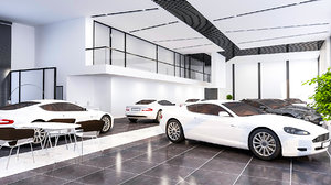 showroom render 3D model