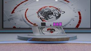 3D virtual tv studio model