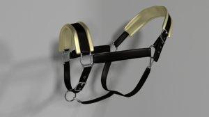 halter horse 3D