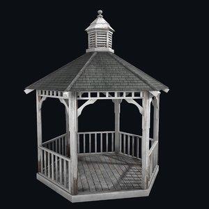 old gazebo 3D model