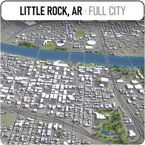 little rock surrounding - 3D model