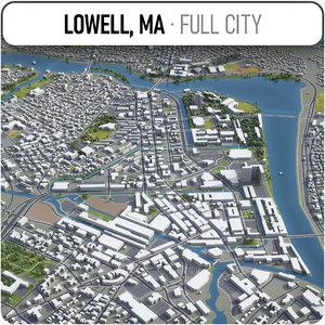 lowell surrounding - 3D model