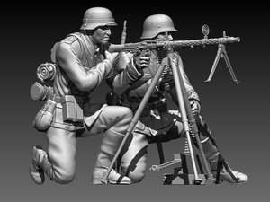 german soldiers model