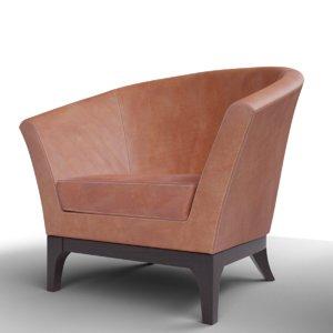 classic west elm tulip chair 3D model
