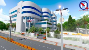 bank m modern building 3D model