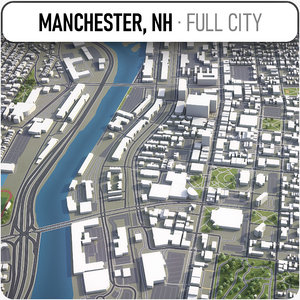 manchester new hampshire surrounding 3D model