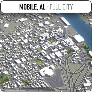3D model mobile surrounding -