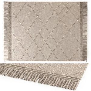 3D benuta daphne wool rug model