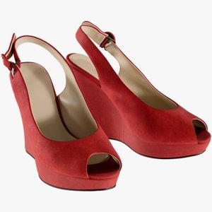 3D model realistic women s shoes
