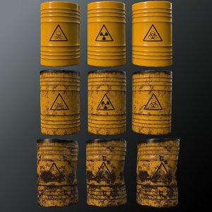 pbr barrel toxic 3D model