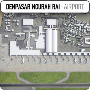 3D ngurah rai international airport model