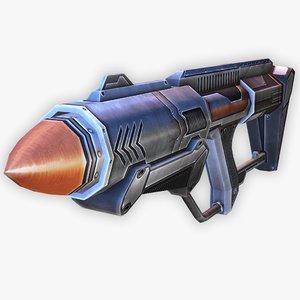 sci-fi rocket launcher 3D model