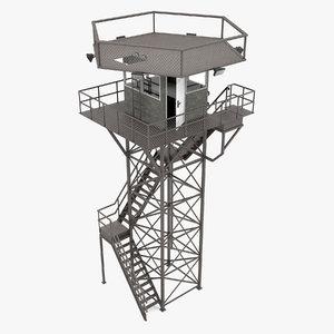 observation tower 3D model