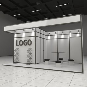 exhibition expo stand 3D model