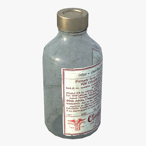 3D model medicine bottle old