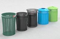 New York street Trash Bins Recycling