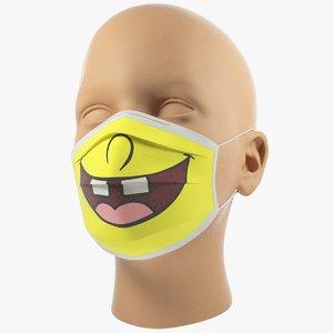 3D model medical mask