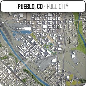 3D pueblo surrounding -