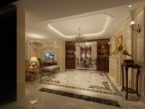 interior scene luxury living 3D