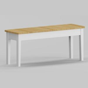loft bench 2 persons 3D