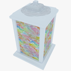 3D color lamp model