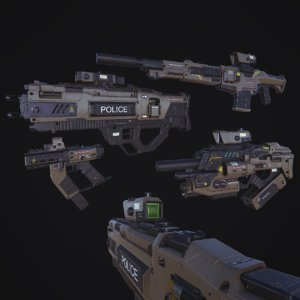 3D fps pbr weapons v1 model