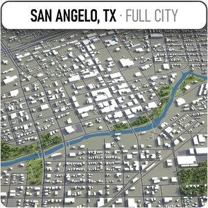 san angelo surrounding - 3D model